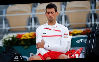 Djokovic's body acts up at French Open; faces Tsitsipas next