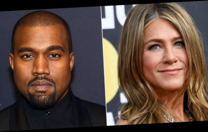 Jennifer Aniston urged her fans to vote but said it's 'not funny' to vote for Kanye West