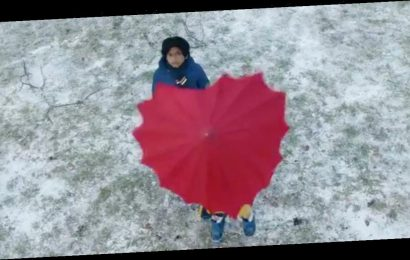 John Lewis sells heart umbrellas from advent with profits going to charity