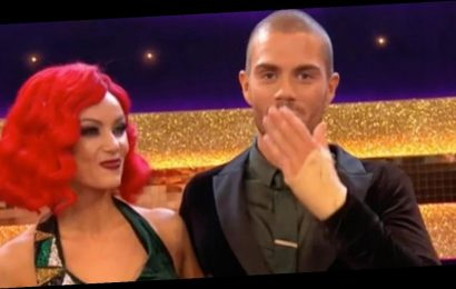 Strictly's Claudia forced to apologise as Max George shouts F word live on air