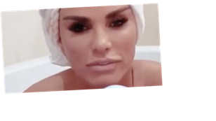 Katie Price strips naked to take dip in bath as she shows off her bath bombs in new business venture
