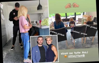 Emma and Matt Willis' son Ace, 8, seen handmaking clothes after being praised for his ground-breaking style