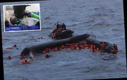 Baby girl among six migrants dead after packed dinghy carrying 116 people splits in HALF trying to cross Mediterranean