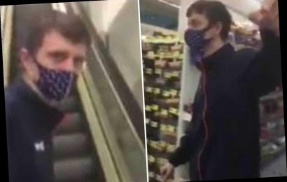 B&M worker threatens to smack customer in face and kick him down escalator as he wouldn't stop filming him