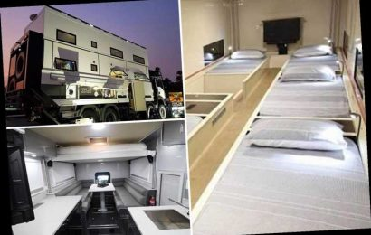 Incredible two-story 'apocalypse-proof' campervan worth £1.1m comes complete with ten beds & four TV's