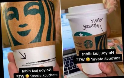 Starbucks customer discovers saucy message left for her by barista – so would you have spotted it?