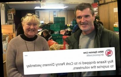 Roy Keane visits local food bank to help out charity as Man Utd hardman shows caring side in his community