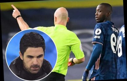 Arsenal star Nicolas Pepe faces dressing down from Arteta in private showdown after sending off vs Leeds