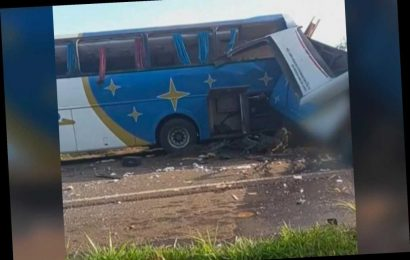 At least 22 dead in Brazil after horrific crash between bus and truck