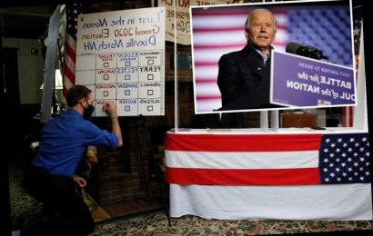 Biden wins traditional midnight vote in Dixville Notch in first landslide since Nixon in 1960 – which he went on to LOSE