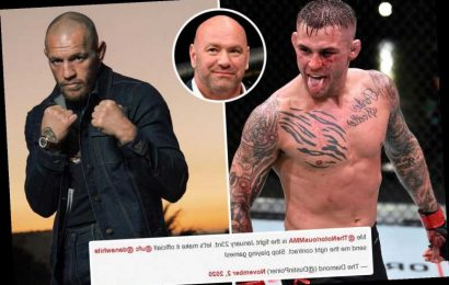 Angry Dustin Poirier tells Dana White to 'send me the right contract' for Conor McGregor UFC fight in now-deleted tweet