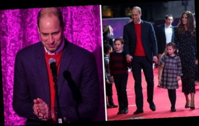 'Motivational dad' Prince William 'shows off parenting skills' in new video with Kate