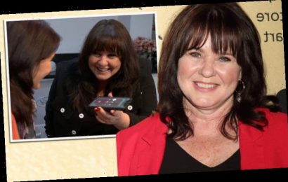Coleen Nolan and sister Maureen seen making contact with potential long lost sibling