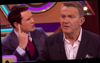 Bradley Walsh warns Jimmy Carr to 'shut up' after embarrassing Blankety Blank mistake
