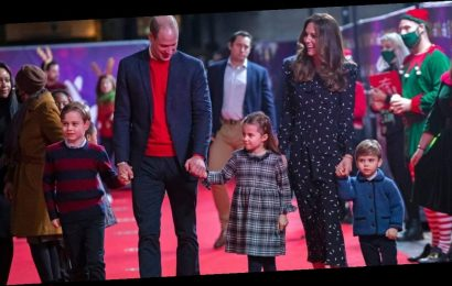 Kate Middleton and Prince William Wore Coordinated Outfits With Their Kids on the Red Carpet