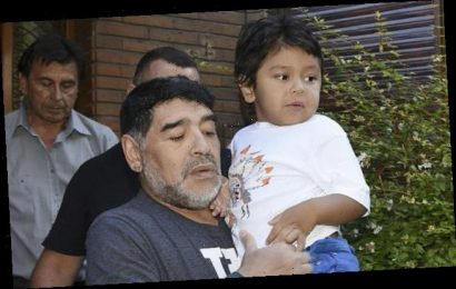 Maradona recorded a heartbreaking message about his youngest son
