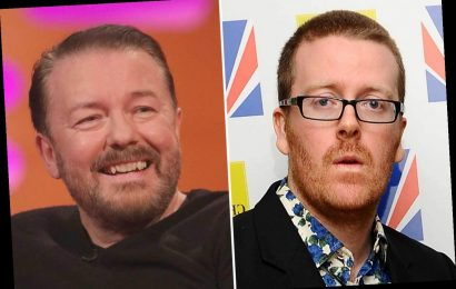 Frankie Boyle sparks feud with Ricky Gervais as he slams Afterlife star for 'lazy' stand-up gags about trans people