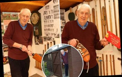 Grandad spends whopping £6,000 building sports memorabilia museum in his shed