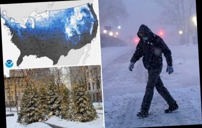 Christmas storm to pound East Coast with snow and heavy rain sparking flooding fears after seven died in Storm Gail