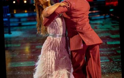 Strictly's Maisie Smith dances in a ballgown and moonboots as she celebrates finally getting out of the bottom two