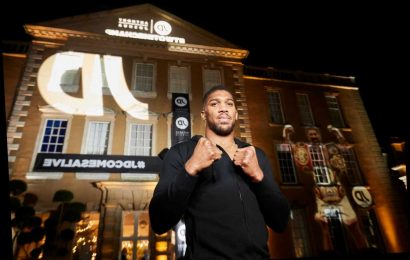 Anthony Joshua launches JD Champs Honours List with kindhearted fans in with chance to meet boxing star