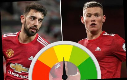 Man Utd player ratings: Scott McTominay and Bruno Fernandes win midfield battle as they teach Leeds a lesson
