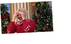 Holly Willoughby can't stop laughing at rude innuendo as she introduces her 'festive sack' to viewers in Spin To Win