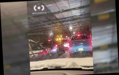 Six injured in 27-vehicle crash on NYC parkway amid Winter Storm Gail