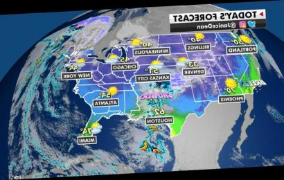 Cold air for Southeast, heavy rain and snow over southern plains