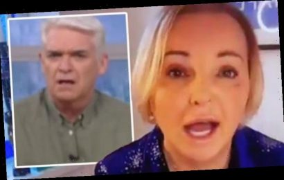 Phillip Schofield open-mouthed over India Willoughby's reaction to Trump protests