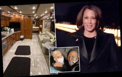 Inside Kamala Harris' bus where she got ready for inauguration concert