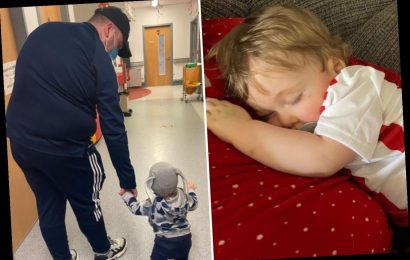 Dad slams 'inhumane' rules banning him & wife both being with critically ill son, 1, as he undergoes chemo in hospital