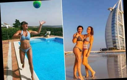 Kirsty Gallacher, 44, shows off her stunning toned body in bikini snap with Natalie Pinkham in Dubai