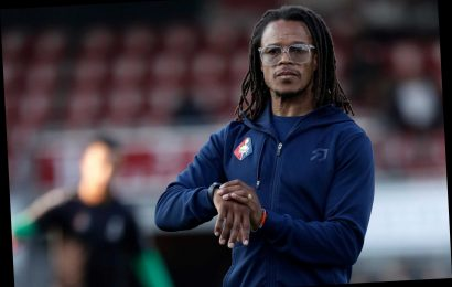 Edgar Davids SENT OFF in first game as Olhanense manager after post-match brawl before storming out of ground