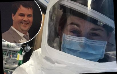 Daughter tells of devastating goodbye to Covid-stricken dad and how she couldn't wipe her tears because of her PPE