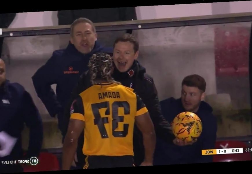 Watch as brave Chorley bench laugh in face of Wolves star Adama Traore in FA Cup fourth-round confrontation