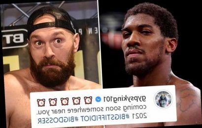 Tyson Fury hints Anthony Joshua showdown will be in UK as he shares SunSport tale of the tape in cryptic Insta post
