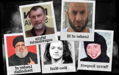 World's most dangerous men and women revealed – from neo-Nazis to Islamic terrorists