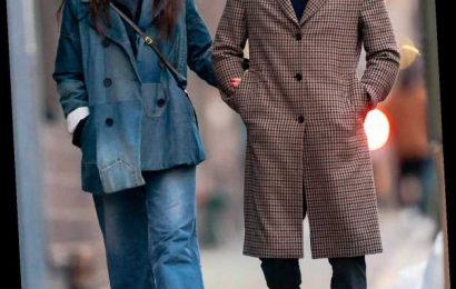 Katie Holmes and Emilio Vitolo Jr.  Take a Sweet Stroll Arm in Arm
