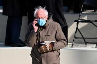 Senator Bernie Sanders' Inauguration Look Goes Viral
