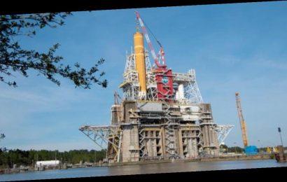 Huge NASA SLS rocket faces critical test firing before moon mission