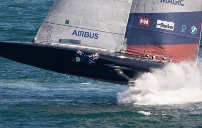 America's Cup 2021: American Magic survive scary splashdown on return to sailing leaving crew 'shaken'