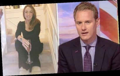 Dan Walker calls out Sally Nugent for wearing slippers to collect award for BBC Breakfast