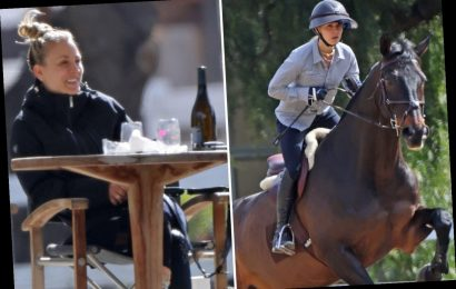 The Big Bang Theory's Kaley Cuoco sips wine after three-hour horse riding session following Golden Globe nomination