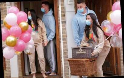 Katie Price treated to £500 hamper from boyfriend Carl Woods as he kicks off Valentine's Day celebrations early