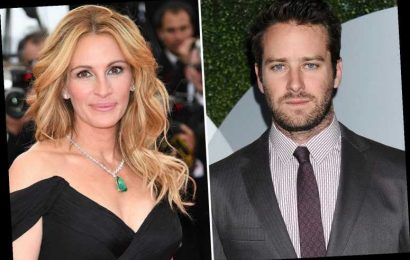 Armie Hammer 'steps away from drama Gaslit starring Julia Roberts' after admitting he has a 'creepy crush on her'