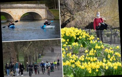 Britain hotter than Madrid as UK basks in 17C scorcher on hottest day of the year so far