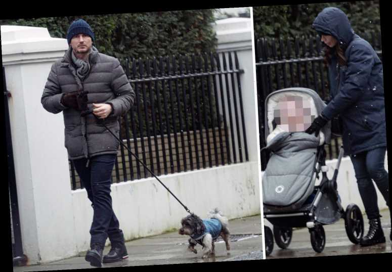Frank Lampard spotted out with wife Christine and baby as ex-Chelsea boss has some family time after being sacked
