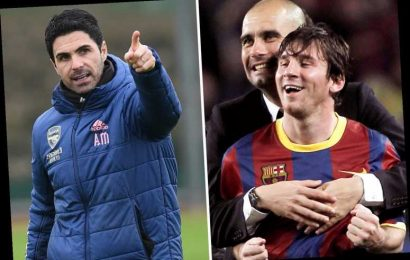 Mikel Arteta asks Arsenal fans not to expect Guardiola-style heroics in first job… as he doesn't have Lionel Messi