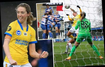 Chelsea women suffer first defeat in TWO YEARS as Brighton end incredible 33-game unbeaten run